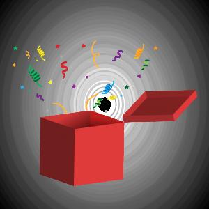 gift, box, gift box